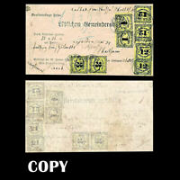 1851 Cover  Grand Duchy of Baden  with special country-post due stapms,Copy