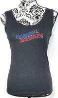Harley-Davidson Womens Embroidered Tank Top Size Medium Gray Ernies Algona Iowa