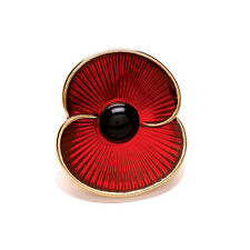 Royal British Legion | Poppy Collection Enamel Pin Gold Tone