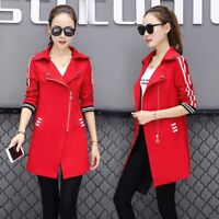 2018 Fashion Women's Casual Medium Slim Coat Korean Cotton Blend Overcoat Jacket