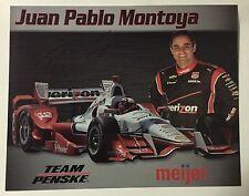 Juan Pablo Montoya Signed Meijer Indy 500 Car Hero Card 2015 Rare Autographed
