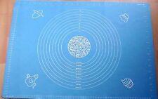 blau XXL Silikonmatte  65x45cm Rollmatte Teigunterlage Kuchen Backunterlage