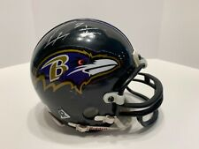 Baltimore Ravens Mini Helmet 3 5/8 NFL Signed By Ray Lewis - Autograph Auto