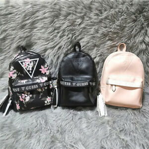 GUESS Women's printed backpack with tassel pendant decoration large backpack