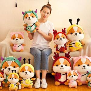 Cute Antler Squirrel Shiba Inu Dog Plush Toy Stuffed Soft Animal for Kids Gift