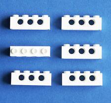 LEGO Technic Technik 6 Stk. Loch Stein Balken 1 x 4 weiß 3701 white 370101   NEU