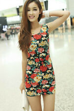 NEW FLORAL SLEEVELESS SUMMER/PARTY DRESS, SIZE 8-10, 99p START! UK SELLER