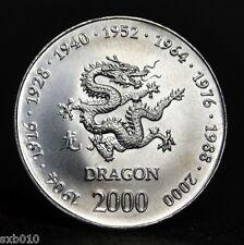 Somalia 10 Shillings 2000. African Commemorative coin. km94. UNC. Zodiac- Dragon