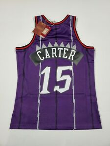MITCHELL & NESS MEN'S TORONTO RAPTORS SWINGMAN JERSEY VINCE CARTER PURPLE