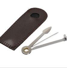 Curapipe nettapipe con custodia in pelle accessorio metallo pulizia della pipa