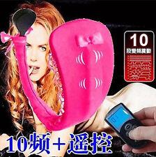 10 Speeds Remote Control Vibration C-String Womens G-String Underwear Fun Toys