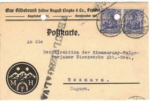 perfin M H Max Hildebrand Freiberg 1920