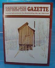 On3,On30,SN3,HOn3 NARROW GAUGE AND SHORT LINE GAZETTE MAGAZINE MARCH/APRIL 1980