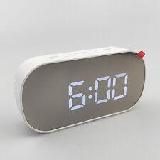 Large Digital LED Mirror Night Lights Digital Alarm Clock Snooze Thermometer Dat