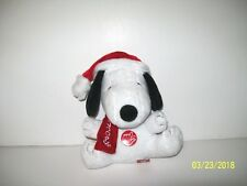 """Peanuts Christmas SNOOPY Musical Plush 7"""" Plays Peanuts Theme Song"""