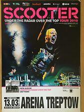 SCOOTER 2010 BERLIN - orig.Concert Poster  --  Konzert Plakat  A1 NEU