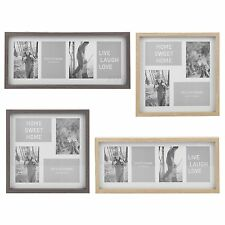 Photo Frame Square Or Rectangle Multi Picture Collage Wood Effect Wall Mounted