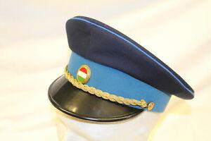 BS24: Schirmmütze Polizei Ungarn Offizier schönes altes Stück Größe 55