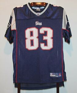 REEBOK WES WELKER NEW ENGLAND PATRIOTS HOME FOOTBALL JERSEY SIZE YOUTH XL