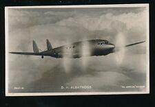 Aviation D.H.ALBATROSS Valentine's Series c1930s RP PPC