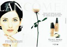 Publicité Advertising 0817  1998   Lancome (2p) maquillage fond teint C.Reali