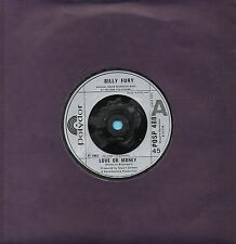 BILLY FURY love or money*love sweet love 1982 UK POLYDOR 45