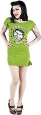 77466 Green Thrill A Rama Kitschy Tunic Dress Sourpuss Retro Carnival Circus LG