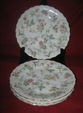 Andrea By Sadek ~ CORONA ~ Floral Porcelain ~ Set of SALAD/DESSERT PLATES ~ New