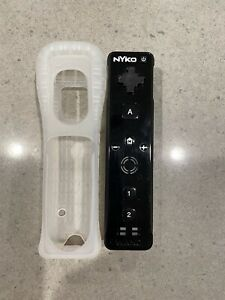 Nintendo Wii Remote Controller Black Nyko Wand Wiimote With Official Rubber Grip