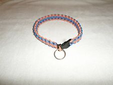 BRAND NEW Custom Hand Made braided UF Florida Gators colors Dog Collar w/ buckle