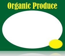 SUPERMARKET ORGANIC PRODUCE PRICE CARDS LASER SHELF SIGNS -100 pieces-8.5x11
