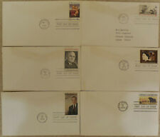 6 (six) US 1973 FDC first day covers fair condition