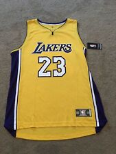 Lakers LeBron James Gold Fanatics NBA Authentic Fastbreak Jersey Adult Sz Large
