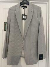 Womens Next Tailored Blazer Jacket Blue/White Striped Nautical BNWT 14 RRP£45