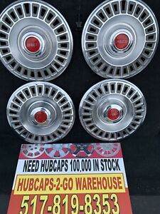 "1967 1968 Pontiac Gto Firebird Mint Almost New 14"" Set 4 Hubcaps Beautiful, Rare"