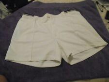 """K1 Mens Vtg TENNIS shorts Fancy dress party stag Retro 80s 2XL 40"""" White BASIC"""