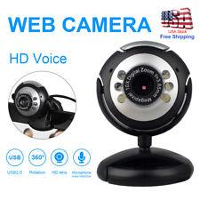 USB HD Webcam Camera Web Cam with LED Microphone For PC Laptop Computer Desktop