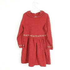 Gymboree Girls Sz 6X Red Floral Dress Embroidered Peter Pan Collar (V1-22)