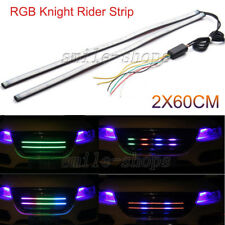 """24"""" 7 Color RGB LED Knight Rider Strip Light Under Hood Behind Grille For BMW"""