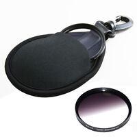 1PCS 2-Pocket Camera Filter Lens UV CPL Bag Case Elastic Pouch Holder Black 77mm