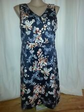 Katies Limited Edition oriental floral Shift Dress desk to dinner Size 20 NEW