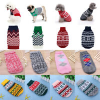 Pet Clothes Coat Dog Cat Jumper Sweater Warm Clothing Apparel for Winter Autumn