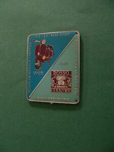 Vespa Piaggio Emblem Plakette original v.Vespa Oldtimertreffen 2002 Aschaffenbg.
