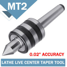 MT2 0.02'' Rotary Lathe Live Milling Center Turning Morse Taper Triple Bearing