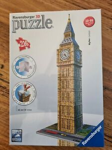 Big Ben 3D Jigsaw Puzzle 216 Piece ravensburger game clock london uk england