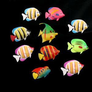 1/10Pcs Artificial Plastic Small Fake fish For Aquarium Tank Decor W3V5