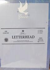 Christmas Letterhead PEACE Dove - 8.5x11 paper 100 Sheets NEW