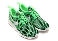 NIKE Women's Roshe One Flyknit Running Shoes UK 8 Voltage Green