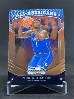 2019-20 Panini Prizm Draft Picks All Americans #100 Zion Williamson Rookie Duke