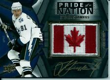 2009-10 UPPER DECK BLACK STEVEN STAMKOS PRIDE OF A NATION AUTO PATCH 13/35